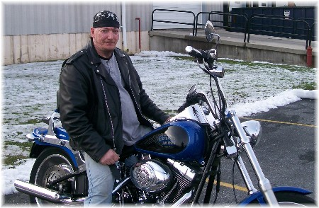 Bruce on his Harley