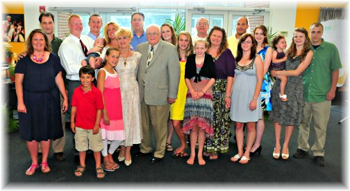 Ron and Bonnie Hoover family on their 50th anniversary