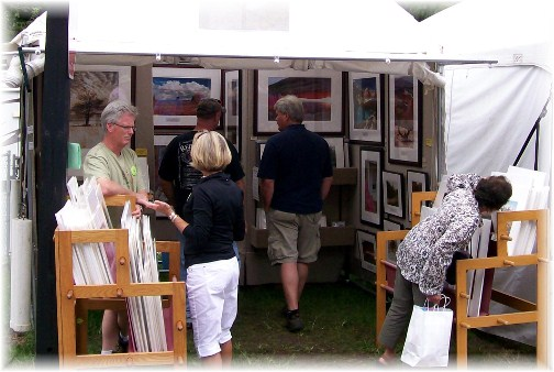 Howard Blichfeldt at Mount Gretna Outdoor Art show, PA