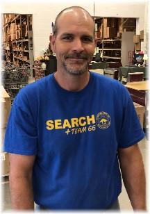 Jason, member of search team