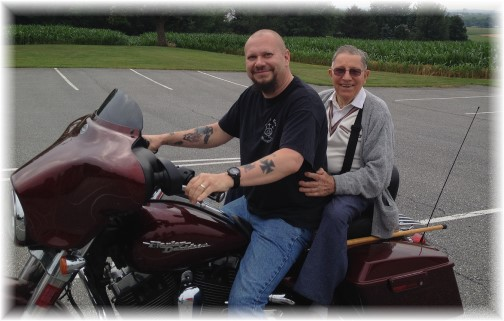 Jesse and Mike on Harley 6/20/15