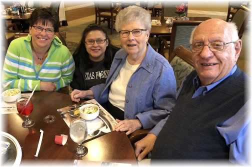 With Jim and Dorothy Schmidt 4/15/18
