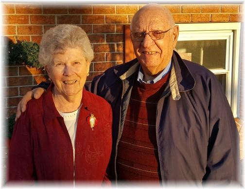 Jim and Dorothy Schmidt 12/25/16