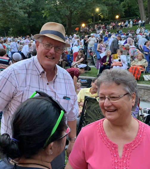 John and Faithe Keefer at the Collingsworth family at Music In The Park, Lebanon, PA 6/23/19