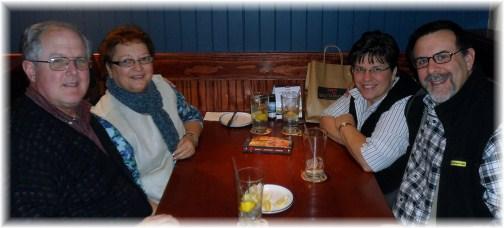 Dinner with John and Faithe Keefer 1/21/13