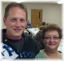 John Mark Keefer with his Mom, Faithe