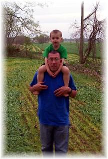 Ken and David first harvest 2011