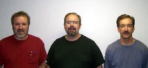 Mel, John, and Linsford Kurtz