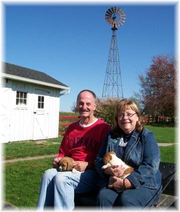 Larry and Tina Kester on Amish farm 10/25/11