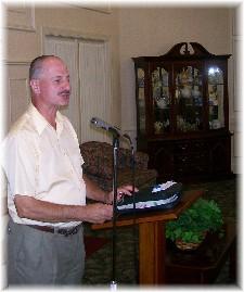 Larry Kester preaching 7/19/09