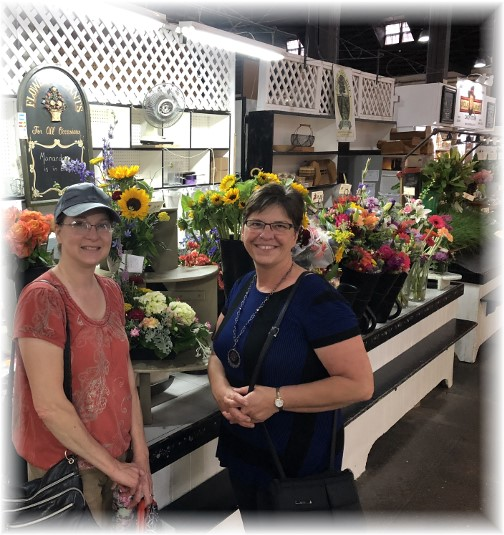 Brooksyne visiting with Lori at Central Market 6/22/18