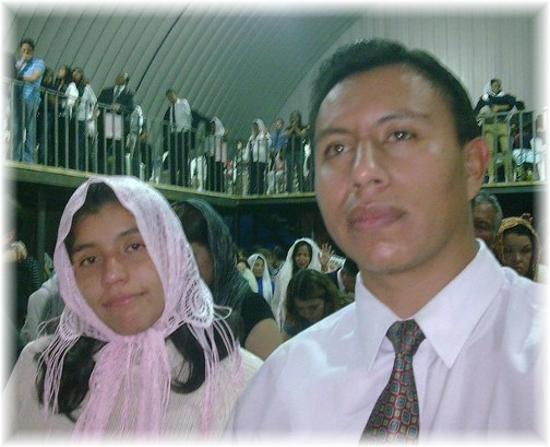 Marvin and his wife in Guatemalan church