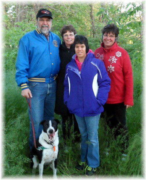 Matangelo family on trail walk 5/13/13