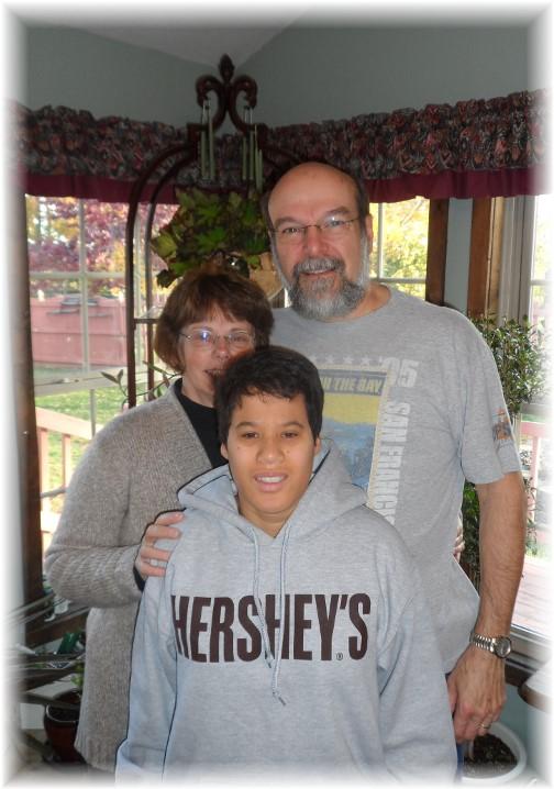 Matangelo family visit 11/3/13