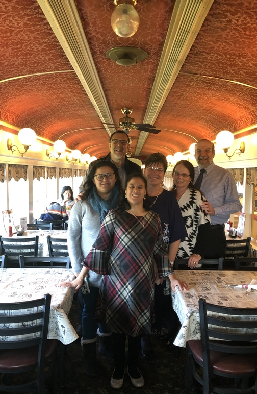 Matangelo family in dining car 11/3/19