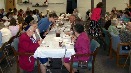 Church dinner following missions service photo