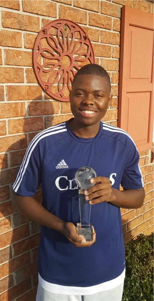 Nathan Ncube soccer MVP 3/21/17