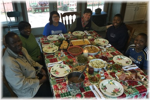 Ncube family, New Year's meal 1/1/16