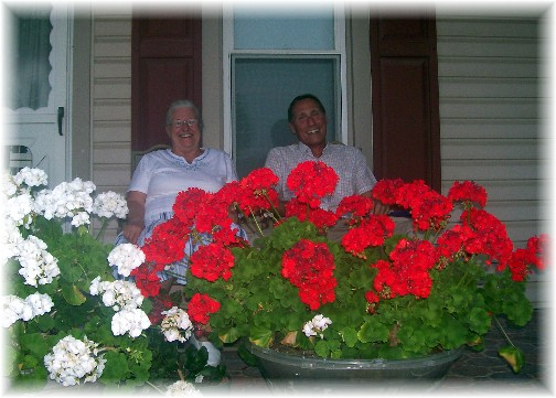 Oren and Naomi on front porch 7/6/11