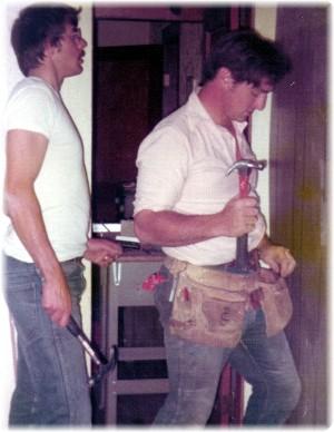 With Paul Schotz 1976 repairing parsonage