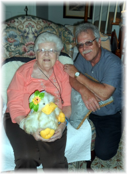 Rick Steudler with his mother Jeanette 05/29/13