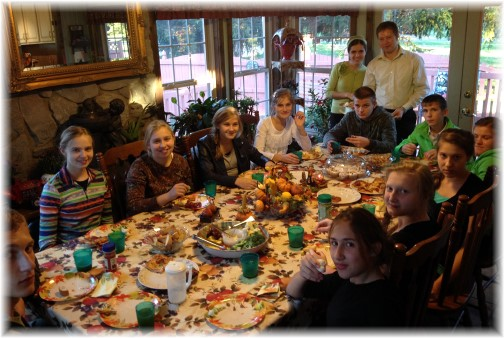 Meal with Russian youth 10/26/14