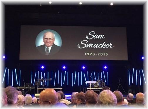 Sam Smucker funeral 9/12/16