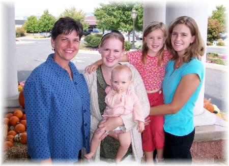 Shawna and Sharon with kids 10/4/07