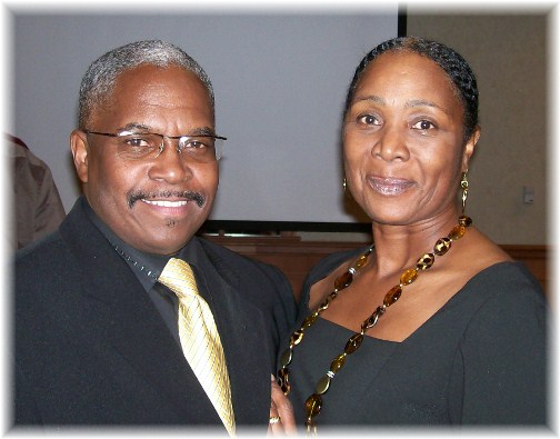 Pastor Danny Dawkins and his fiance, Flecia Gill from Baltimore, Maryland