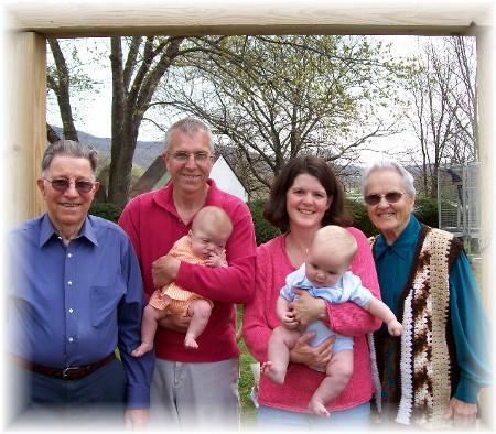 Thompson family with Dourte Family