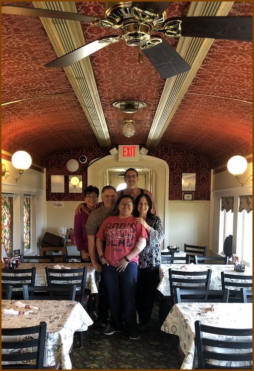 Tom and Marsha Neizmik, Casey Jones dining car 3/31/19