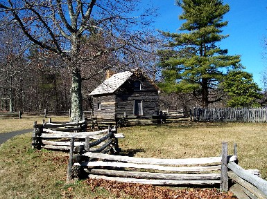 Puckett Cabin on the Blue Ridge Parkway in southern Virginia