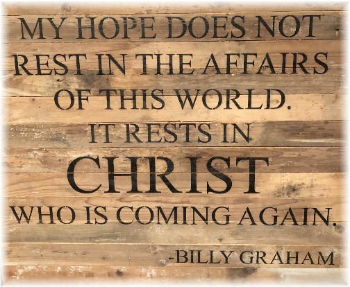 Billy Graham quote on hope