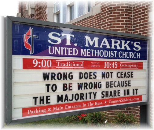 St Marks UMC, Mount Joy church sign
