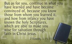 2 Timothy 3;14,15