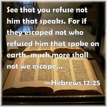 Hebrews 12:25