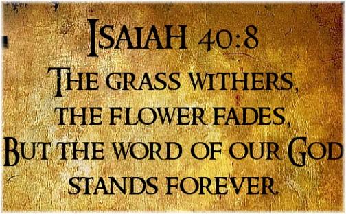 Isaiah 40:8