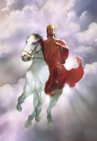 Jesus on white horse