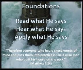 Matthew 7:24 foundations
