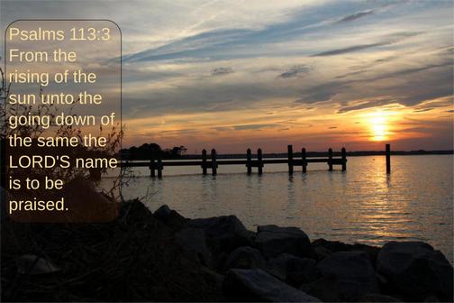 Sunset on Delaware Bay (Photo by Duke)