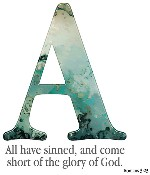 Letter A with Scripture verse