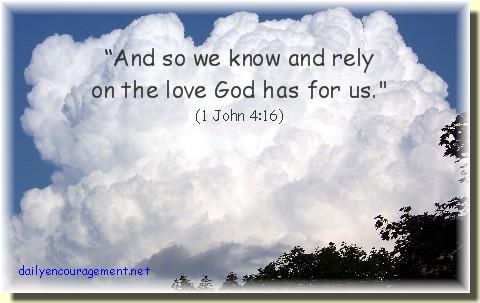 Cloud with 1 John 4:16 (photo by Nancy Martin)