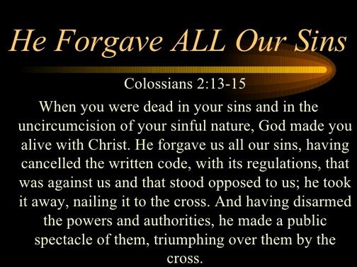 Colossians 2:13-15