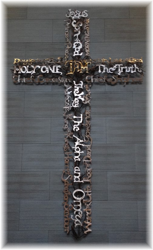 Welded cross with names of God