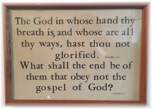 Kember print Daniel 5:23, 1 Peter 4:17
