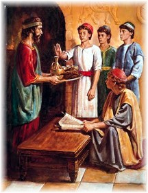 Daniel refusing