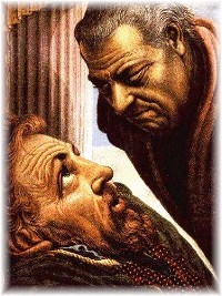 David rebuked by Nathan