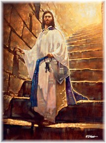 Christ holding the keys!