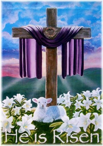 """""""He Is Risen"""" banner"""