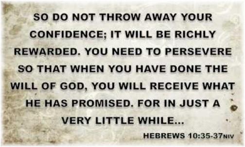 Hebrews 10:35-37